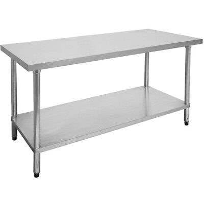 Commercial 1800-7-WB Economic 304 Grade Stainless Steel Table 1800x700x900