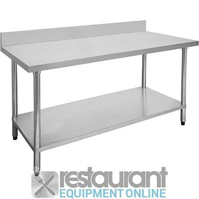 Commercial 0300-7-WBB Economic 304 Grade Stainless Steel Table with splashback 3