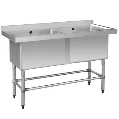 F.E.D 1410-6-DSB Stainless Steel Double Deep Pot Sink Stainless Steel Sinks - 14