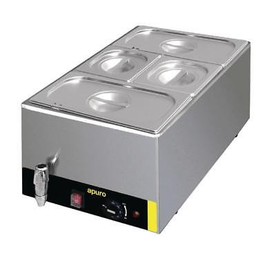 Apuro Bain Marie with Tap and Pans Electric Cooking Equipment | Bain Maries - S0