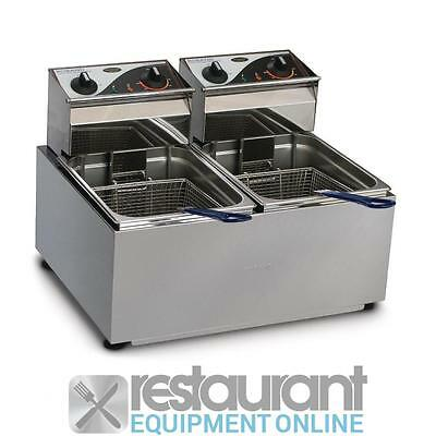 Roband Double Deep Fryer F28 Electric Cooking Equipment | Electric Deep Fryers -