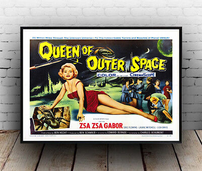 Queen of Outer Space  , Vintage B Movie advertising Poster reproduction.