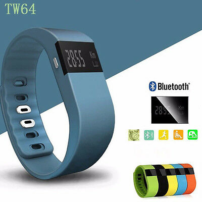 TW64 Bluetooth Smart Watch Bracelet Step Calorie Counter Tracker Pedometer Gifts