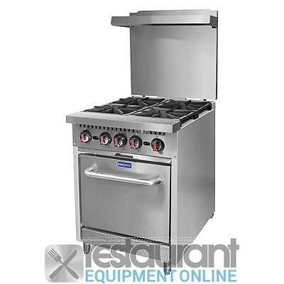 Commercial S24 - Gasmax 4 Burner with Oven