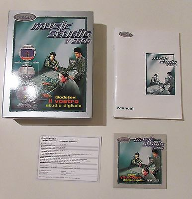 MUSIC STUDIO V 2000 PC CD-ROM BIG BOX ITA Magix