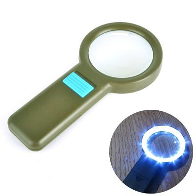 NEW 16X 5X 2.5X Interchangeable Lens LED Magnifier Reading Magnifying Glass Set