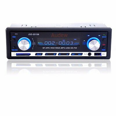 AUDEW 60Wx4 Single Din Bluetooth Car Stereo In Dash 12V with FM SD/USB/Aux MP3 P