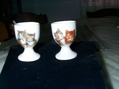 Egg Cups (2) Tabby Cats