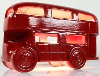 London Bus Tisch Lampe Doppeldecker Leuchte Keramik Rot Desk Lamp Routemaster