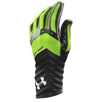 Under Armour Boys Motive Batting Glove Bk Lime Green Youth Small