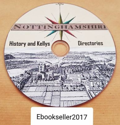 Nottinghamshire History 40 + very old books on 1 disc in PDF Format for PC