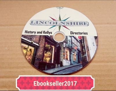 Lincolnshire History 100 + very old books on 1 disc in PDF Format for PC