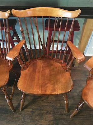 Set of 6 Vintage Maple Windsor Dining Chairs ~ Vermont of Winooski