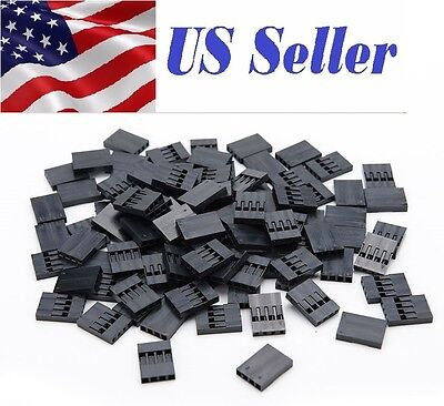 100X 4P Dupont Jumper Wire Cable Housing Female Pin Connector 2.54mm Pitch EFS
