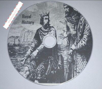 Royal Family genealogy History, ebooks, > 827 AD to Edward VII pdf files on disc