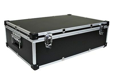 NEO BLACK Aluminium 1000 CD DVD DJ Flight case with numbered sleeves