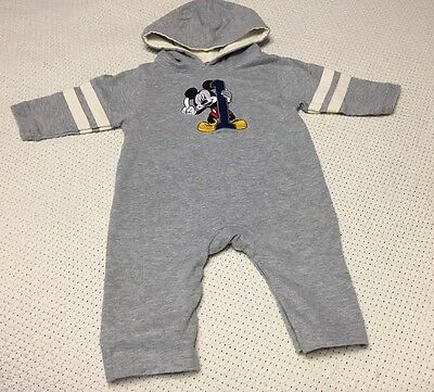 Disney GIRLS Boys Mickey Mouse One Piece Hooded Romper SIZE 6 Months