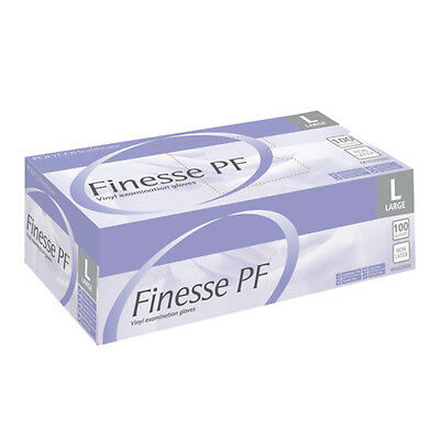 Finesse PF Powder Free Vinyl Gloves - Small 9 (Box of 100)