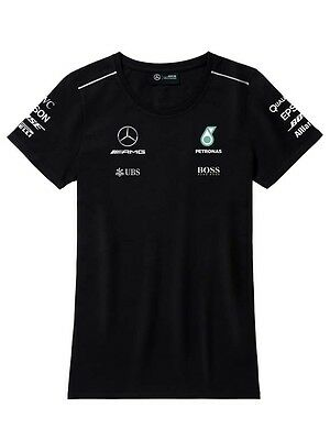 Official Mercedes-Benz AMG Petronas Womens Driver T Shirt 2017 NEW