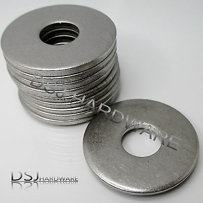 A2 Stainless Steel Extra Large Diameter, Thick Flat Washers M5 M6 M8 M10