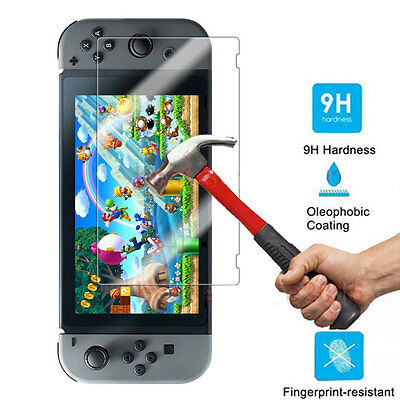 2Pcs Premium Tempered Glass Protector Screen Film Guard For Nintendo Switch