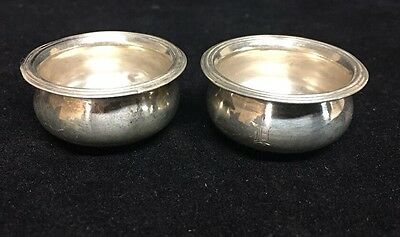 Antique Watson Company Sterling Silver Individual Open Salt Cellars - Set of 2