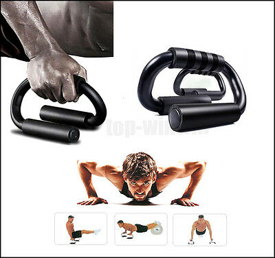 Push Up Stands Bars Handles Home Fitness Workout Training Exercise Equipment Gym