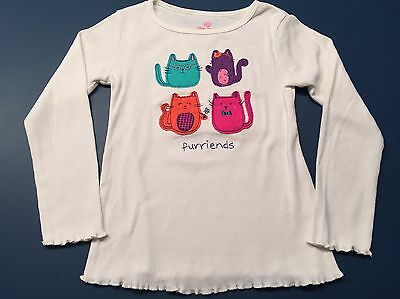 Okie Dokie Furriends White Long Sleeve Shirt For Size 6 Girl