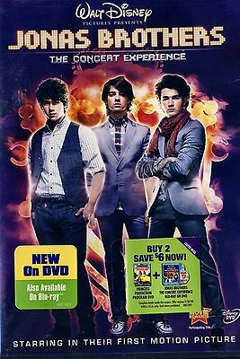 Brand New Dvd //Disney // Jonas Brothers // The Concert Experience //  5.1 Audio