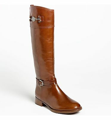 TORY BURCH Women's Nadine Riding Boot: Size 9 M: Brown