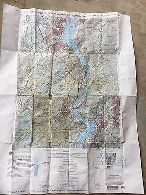 West Point Military Hudson River New York State Us Army Corp Tactical Map Dod