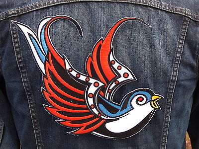 GRAND ECUSSON PATCH THERMOCOLLANT aufnaher toppa / HIRONDELLE rockabilly vintage