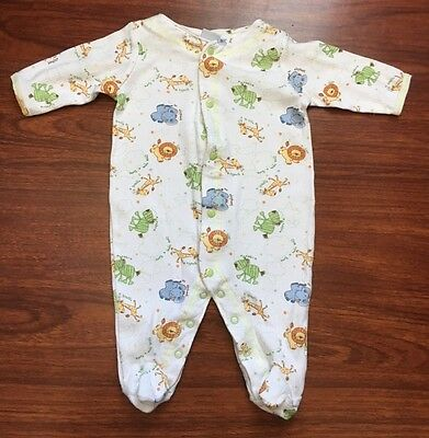 Baby Unisex Girls Or Boys Footed Sleeper Pajamas 100% Cotton Size 3 Months