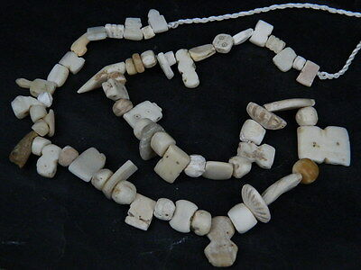 Ancient Shell/Bone Beads Strand Roman 200 BC    #BE5078
