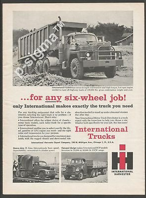 INTERNATIONAL HARVESTER TRUCKS 1961 Vintage Print Ad # 179 3