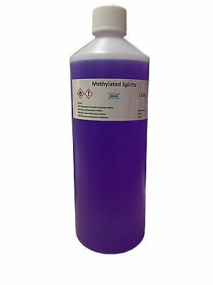 1 Litre Methylated Spirits, Top Quality 94% Meths, Fast and FREE UK Shipping