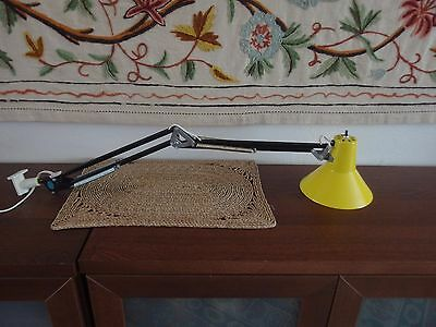 Vintage Mid Century Ledu 2 tone Swing Arm Desk Lamp
