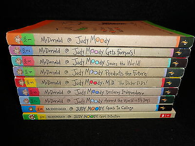 JUDY MOODY Complete Set #'s 1-9 Paperback Chapter Books by Megan McDonald