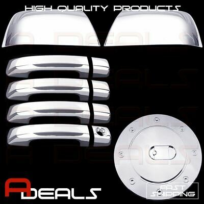 Fit Toyota TUNDRA Chrome Cover CREWMAX 2007-18 2 Mirror+4 Door Handle+Gas
