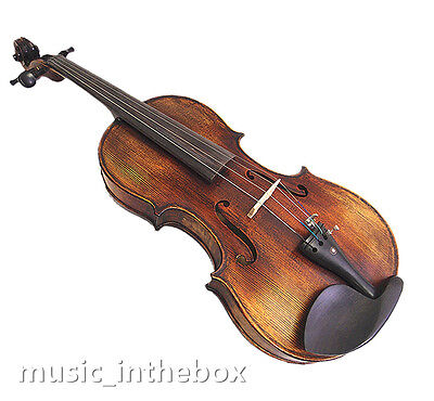 "Used/Old 16"" Viola - Antique Style Hand-made One Back +Square Case  # VA100"
