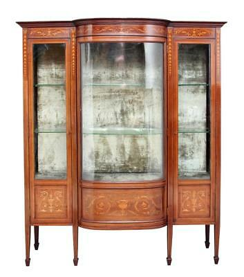 Early 20Th Century Edwardian Mahogany Inlaid Cabinet