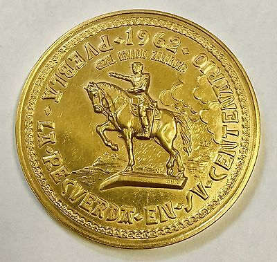 1962-1862 Centennial ofthe Battle of the 5th of May Gold Coin Medal High Relief