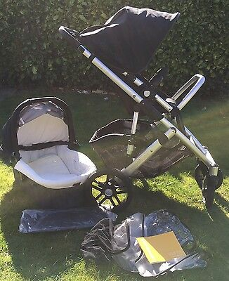Black Uppababy Vista Single Seat Travel System Stroller 2010 With Bassinet