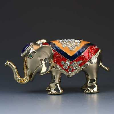 Chinese Cloisonne Handmade Carved Elephant Statue