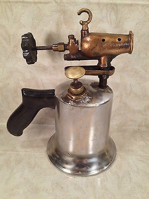 Vintage Brass and Chromed Craftsman Blow Torch with Plastic Handle