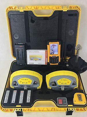 Geomax Zenith 25 GPS GNSS Base and Rover Kit w/ Getac FieldGenius Data Collector