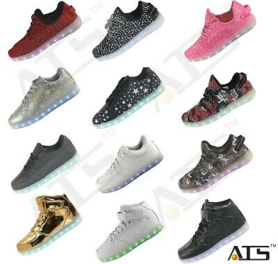 Brand New LED Light Lace Up Luminous Shoes Sportswear Sneaker Casual Unisex