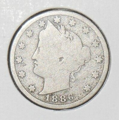 1886 Liberty Nickel! Key Date!