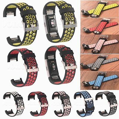 Replacement Sports Silicone Wrist Watch Band For Fitbit Charge 2 Fitness Strap