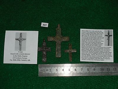 3 Crosses, Crucifix, 18th-19th Century, Found in Northern Europe